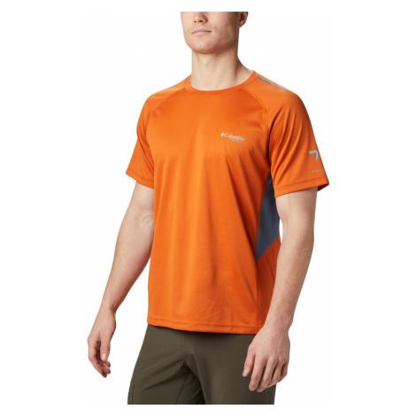 Tričko Columbia Titan Trail™ Short Sleeve Shirt M - oranžová