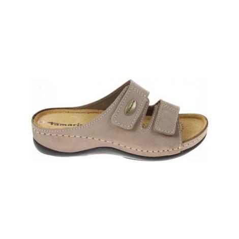 Tamaris Dámské pantofle 1-27510-25 taupe Béžová