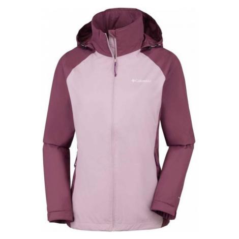 Columbia TAPANGA TRAIL JKT světle růžová - Dámská nepromokavá bunda