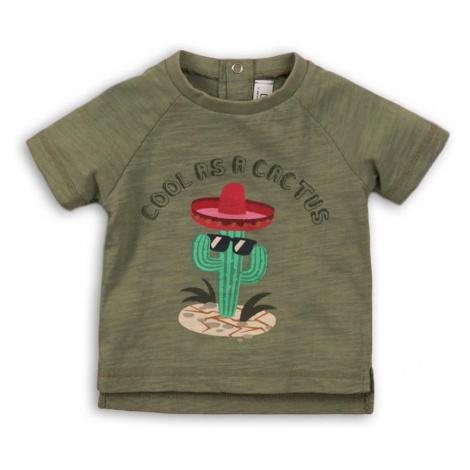 Tričko chlapecké s krátkým rukávem, Minoti, CACTUS 1, khaki