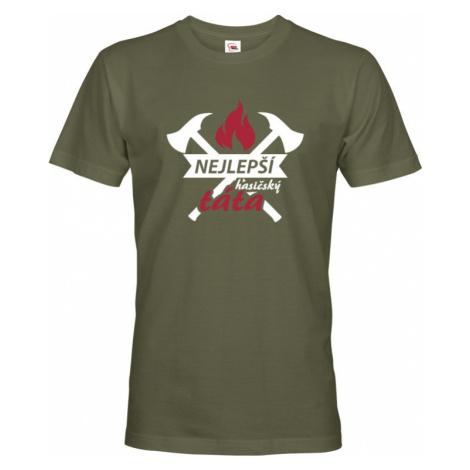 Pánské tričko pro hasiče Nejlepší hasičský táta BezvaTriko