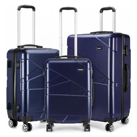 Tmavě modrý cestovní set kufrů 3 v 1 Jamin Lulu Bags
