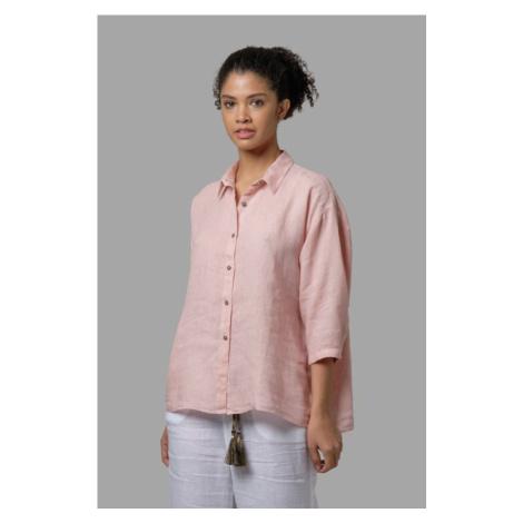 Košile La Martina Woman Shirt 3/4 Sleeves Light - Růžová