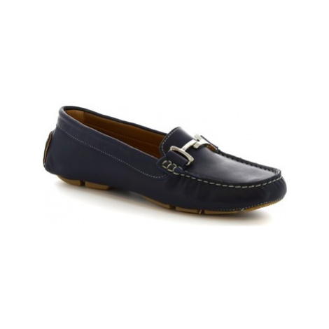 Leonardo Shoes 227 VITELLO BLEU Modrá
