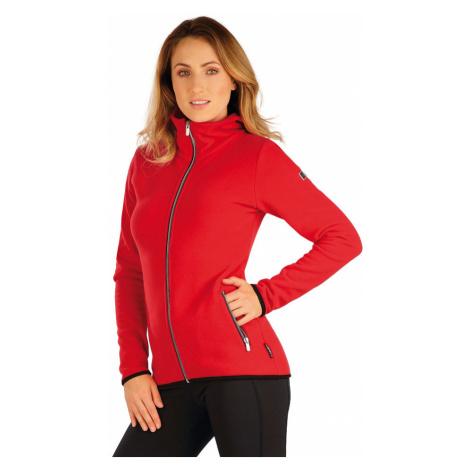LITEX Fleecová mikina dámská se stojákem 7A282306 červená