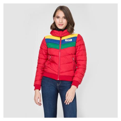 Pepe Jeans dámská červená zimní bunda Vika