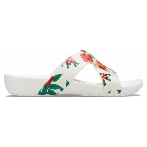 Crocs CrocsSerena Prntd CrssBnd SldW Floral/White W9