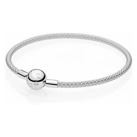 Pandora Pevný stříbrný náramek