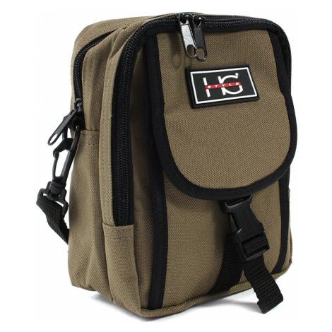 Hnědá pánská praktická zipová crossbody taška Amery HG Style