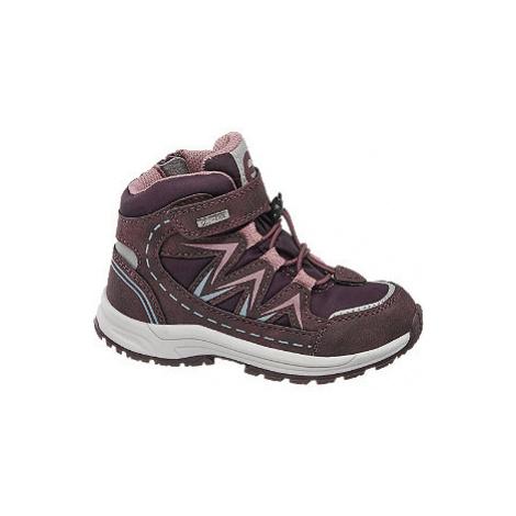Fialovo-růžová kotníková obuv se zipem Elefanten s TEX membránou