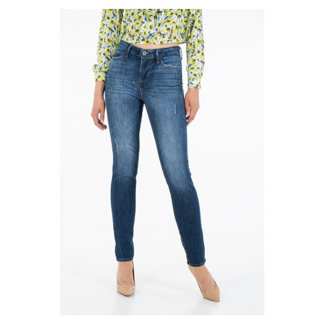 Guess GUESS dámské tmavě modré džíny s vysokým pasem