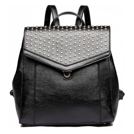 Černý stylový dámský městský batoh Paulen Lulu Bags