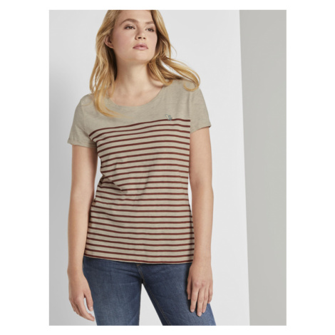 Tom Tailor Denim dámské tričko s proužkem 1021105/10522
