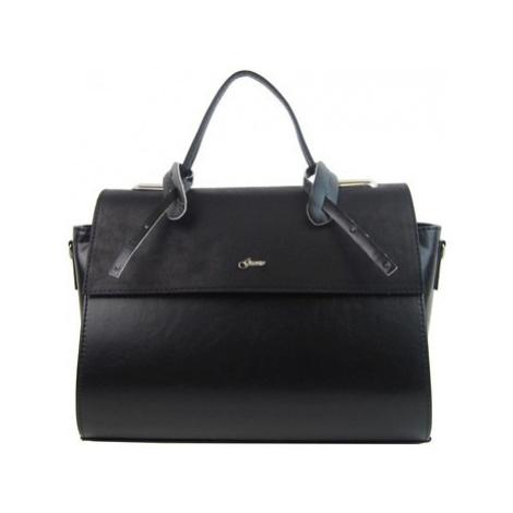 Grosso Stylová dámská kabelka S754 černá Černá
