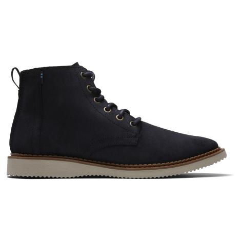 Black Waxy Suede Men Porter Boot Toms