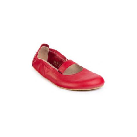 balerínky Angles Afrodita Red s páskem