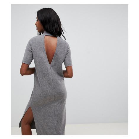 ASOS DESIGN Tall super soft midi t-shirt dress with open back