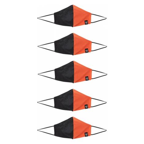 Grubenhelden Látková rouška 'Colourblock' oranžová / černá