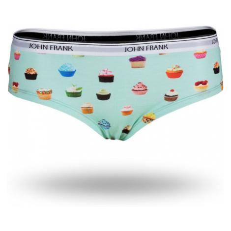 Dámské kalhotky hipster John Frank WJFD-H02 Peprmint-bílá