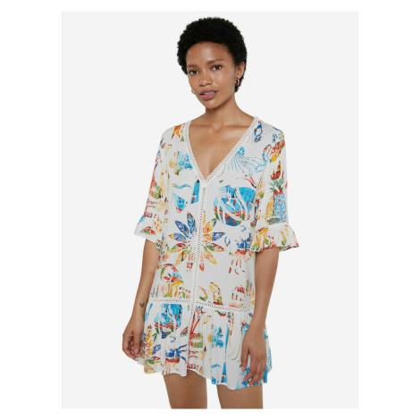 Lombok Šaty Desigual Bílá