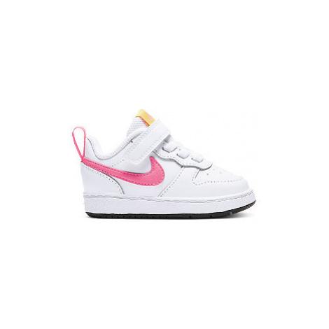Bílé tenisky na suchý zip Nike Court Borough Low 2