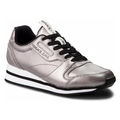 Stříbrné kožené tenisky - VERSACE JEANS