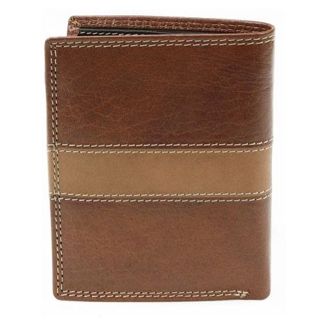 Hnědá pánská kožená luxusní peněženka Jenifer Arwel
