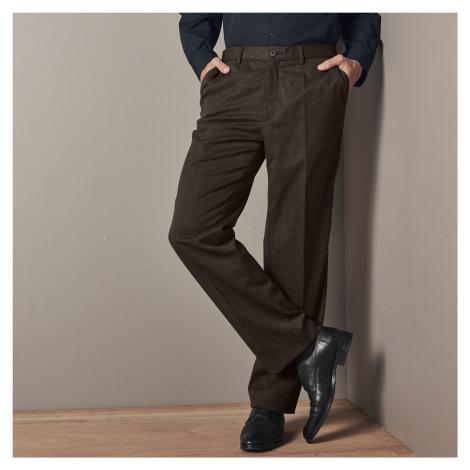 Blancheporte Kalhoty s upravitelným pasem, polyvlna oříšková