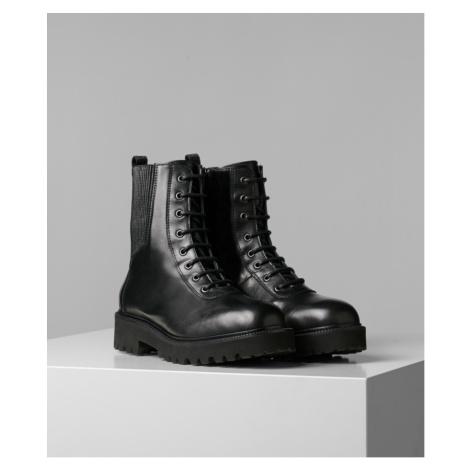 Kotníková Obuv Karl Lagerfeld Karl X Carine Track Boot - Černá