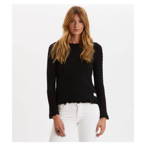 Svetr Odd Molly Wrap Up & Go Sweater - Černá