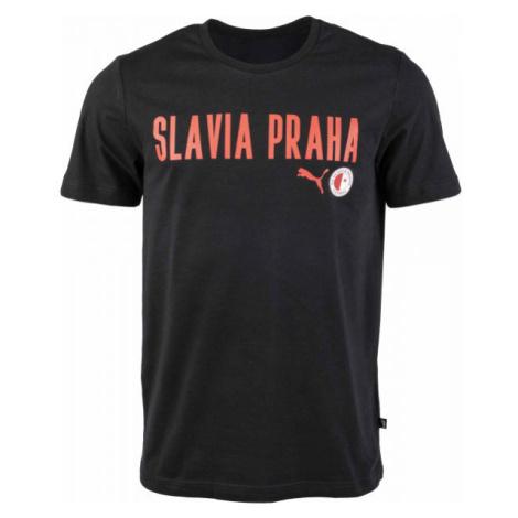 Puma Slavia Prague Graphic Tee DBLU - Pánské triko