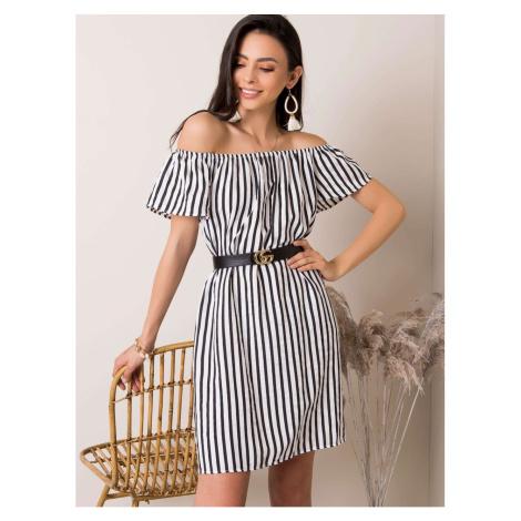 Black and white striped Spanish dress Fashionhunters