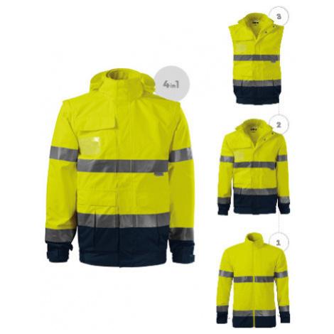 RIMECK HV GUARD 4 IN 1 Pracovní unisex bunda 5V297 reflexní žlutá