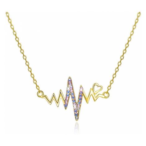Linda's Jewelry Stříbrný náhrdelník Srdcebeat Luxury Line Swarovski Elements Ag 925/1000 INH060
