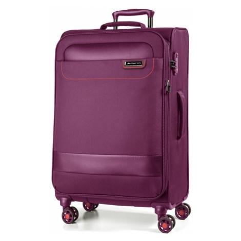 March Látkový cestovní kufr Tourer 70/83 l - fialová