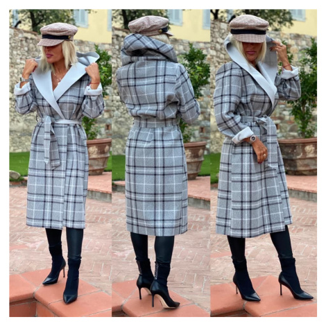 Naprosto dokonalý kabát kostka Barva: Šedá