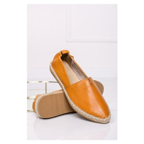 Oranžové kožené espadrilly 2-24213 Marco Tozzi