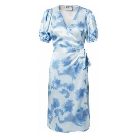 JUST FEMALE Šaty 'Laguni' modrá / bílá