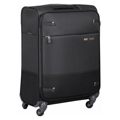 Černý kvalitní textilní kufr Samsonite