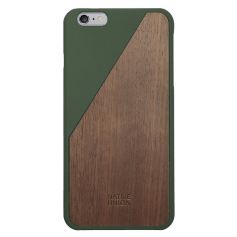 Kryt na iPhone 6 Plus – Clic Wooden Olive Native Union