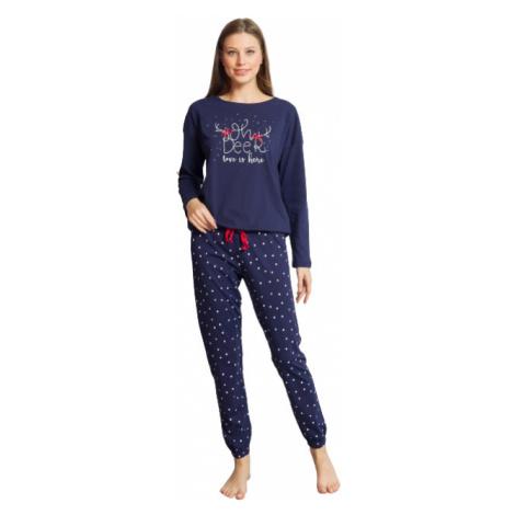 Dámské modré pyžamo Vienetta Secret Adéla   modrá