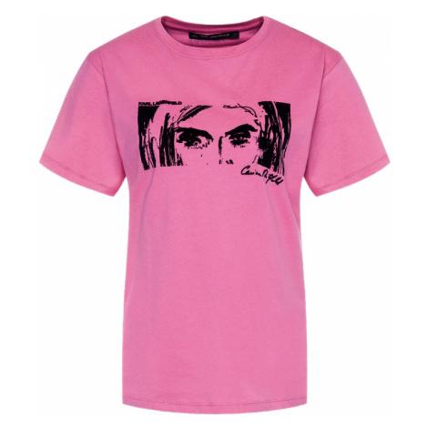 Růžové tričko KARL LAGERFELD