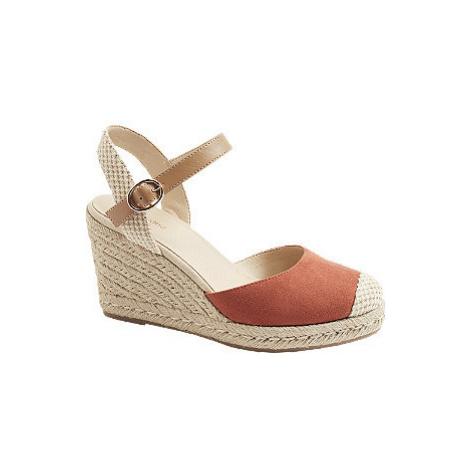 Červené sandály na klínku Graceland