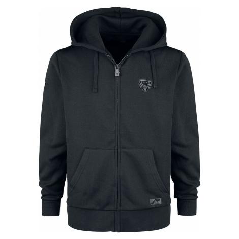 Black Premium by EMP Bunda s kapucí a nášivkami Mikina s kapucí na zip černá