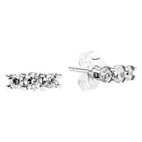 Pandora Drobné náušnice s krystaly 290725CZ