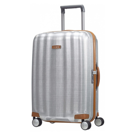 Samsonite Cestovní kufr Lite-Cube DLX Spinner 67,5 l - stříbrná