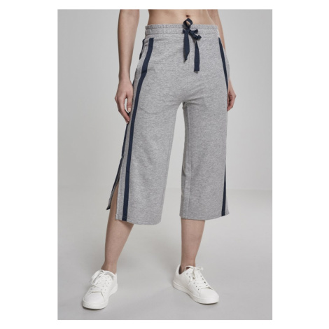 Ladies Taped Terry Culotte - grey/navy Urban Classics