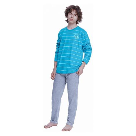 Chlapecké pyžamo Harry tyrkysové s pruhy Taro