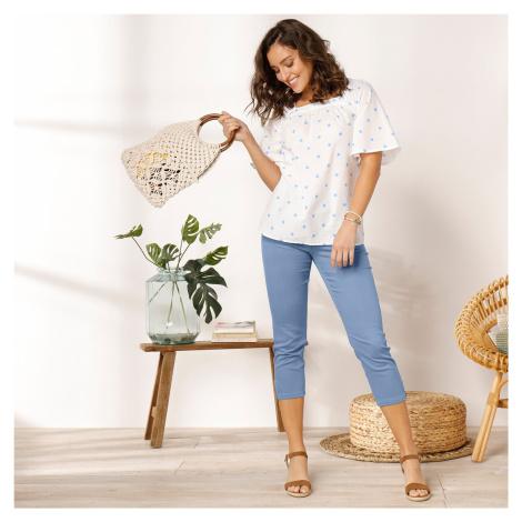 Blancheporte 3/4 úzké kalhoty se zipy indigo