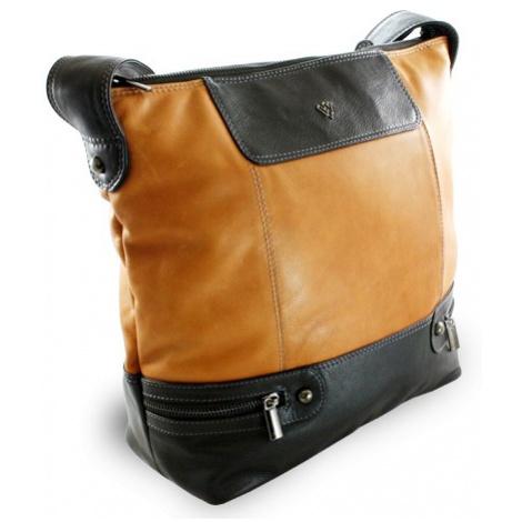 Hnědo černá dámská moderní kožená kabelka Irriel Arwel